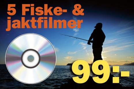 5 st blandade jakt & fiskefilmer