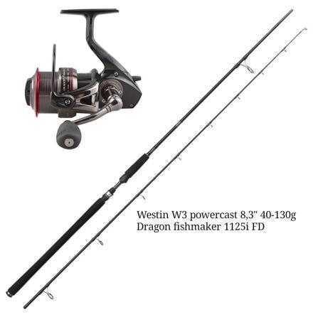 Westin W3 Powercast 8,3'' 40-130g + Dragon Fishmaker 1125i FD