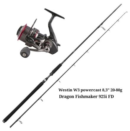 Westin Powercast 8,3'' 20-80 Gram & Dragon Fishmaker 925i FD