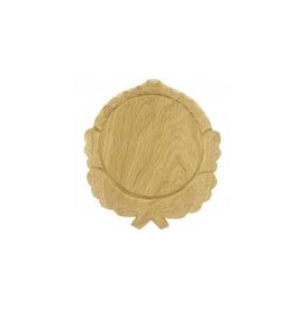 Trofésköld med vacker dekoration för vildsvins betarna 14cm