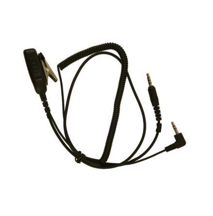 Kabel Hörselskydd 3,5mm.PTT-Y-ProFighter .Rak 4-pol.Pro-Fighter/3,5mm kåpa